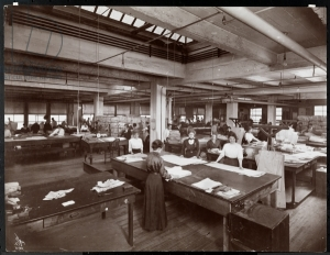 Women working on patterns at McCall's Magazine, New York, 1913 (silver gelatin print) by Byron Company. Museum of the City of New York, USA; American